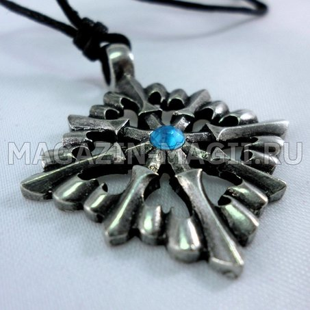 Amulet Cross with lilies