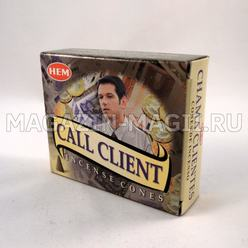 Incense cones 'Call customer'