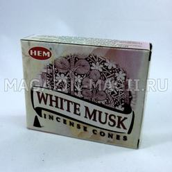 "Incense cones ""White musk"""