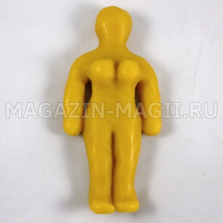 bambola di Cera volt donna giallo