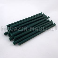 Candle wax emerald (10 cm., 20pcs., dipped)