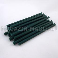 Candele di cera di smeraldo (10cm., 20pcs., маканые)
