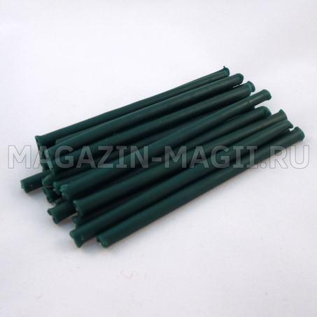 Candele di cera verde smeraldo 10 cm маканые