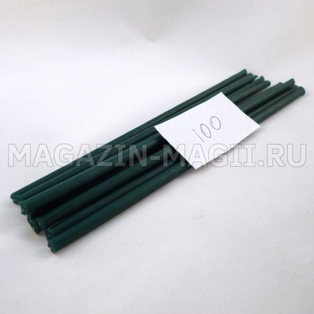 Candle wax emerald green No. 100 dipped
