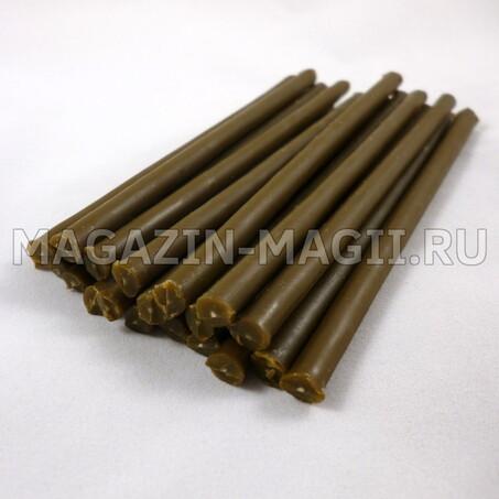 Свечи восковые коричневые 10 см