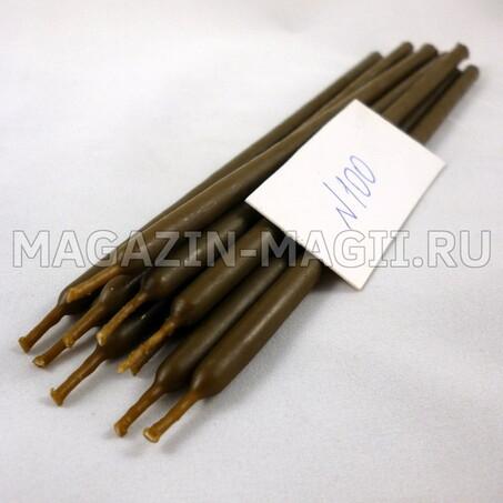Свечи восковые коричневые №100 маканые