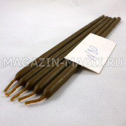 Candele di cera marrone n ° 80 (5 pz, маканые)