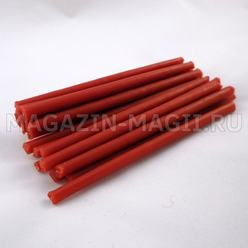 Candle wax red (10cm., 20pcs., dipped)