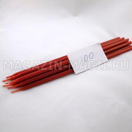 Свечи восковые красные №100 маканые