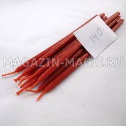 Candle wax red No. 140 (10 pieces, dipped)
