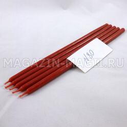 Свечи восковые красные №80 (5 шт., маканые)