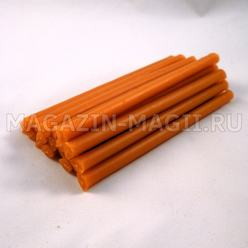 Wax candles orange (10cm., 20pcs., dipped)