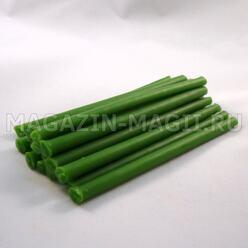 Las velas rituales de cera verde (de 10cm., 15pcs.)