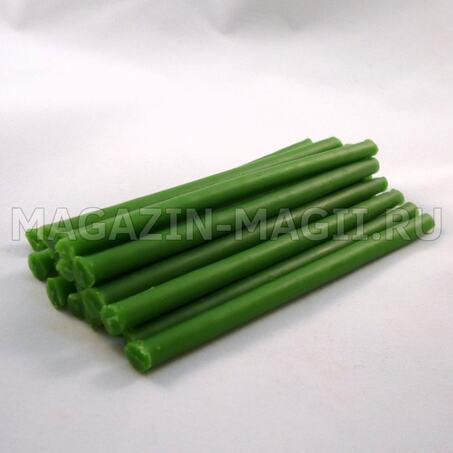 Купить свечи восковые зеленые 10 см