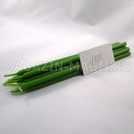 Candele di cera verde n ° 100 маканые