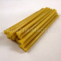 Ritual candles wax yellow (10cm., 15pcs.)