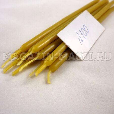 Candele di cera gialla n ° 100 маканые