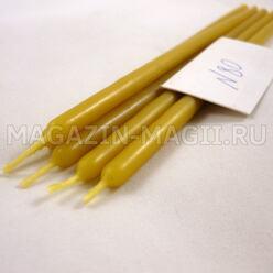 Свечи восковые желтые №80 (5 шт., маканые)